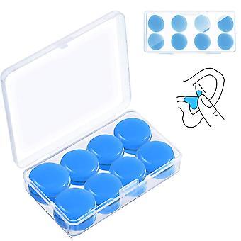6ペアソフト、再利用可能、防水シリコーン耳栓