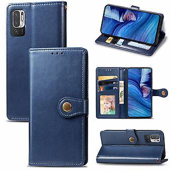 Etui do Xiaomi Redmi Note 10 5g Etui Cover Retro Flip Wallet Magnetic Bumper Flip Protective - Niebieski