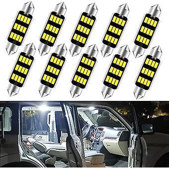 10 Pcs 12 Smd 4041 Chipset Canbus Sans erreur Ampoules LED 41mm 42mm Festoon Ampoules Led