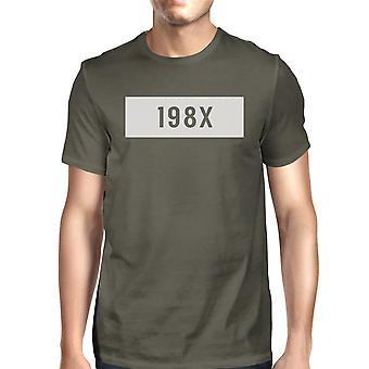 198X Men's Dark Grey Funny Graphic Gift T-Shirt Witty Quote T Shirt