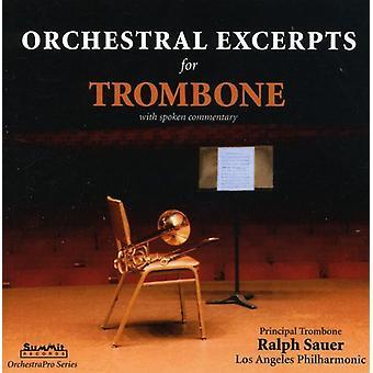 Ralph Sauer - Orchestral utdrag för trombon [CD] USA import