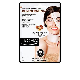 Iroha 100% Cotton Face & Neck Mask Argan-regeneration 1 Use For Women