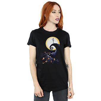 Disney Women's Nightmare Before Christmas Cemetery Boyfriend Fit T-Shirt