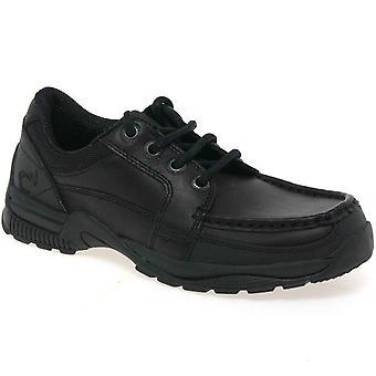 Startrite Dylan pojkar läder skola skor med snörning