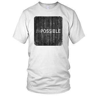 Impossible - motivasjon Bodybuilding vekt trening Fitness Kids T skjorte