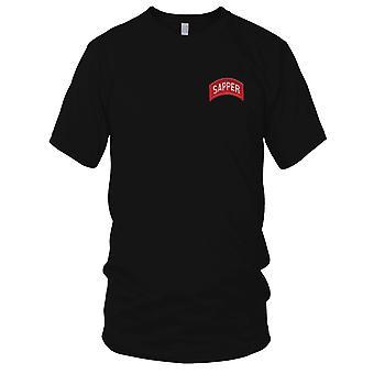 US Army - armée ingénieurs sapeur Rocker rouge brodé Patch - Mens T Shirt