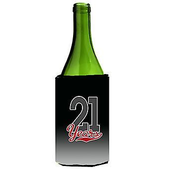 Carolines Treasures  CJ1084LITERK 21 Years Wine Bottle Beverage Insulator Hugger