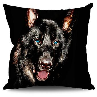 Animal Wild Dog Linen Cushion 30cm x 30cm | Wellcoda