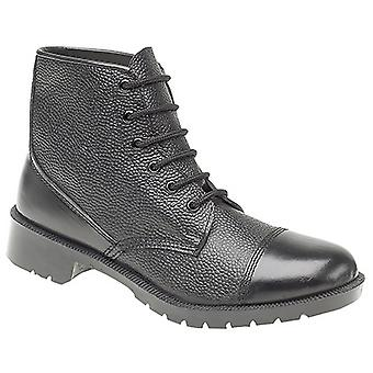 Grafters Mens 6 Eye Grain Leather Cadet Boots
