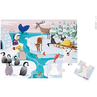 """Janod Giant Tactile Puzzle """"Life On The Ice"""""""