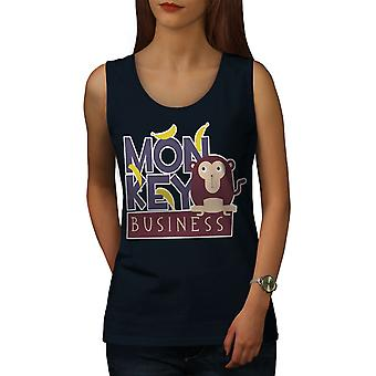 Monkey Business Funny Women NavyTank Top | Wellcoda
