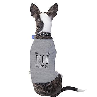 Meow Cotton Pet Shirt Grey Small Dogs Clothes