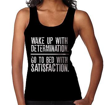 Wake Up bepaling Bed met tevredenheid vrouwen Vest