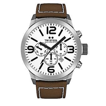 TW steel heren horloge Chrono Marc Coblen Edition TWMC31 pols horloge lederen band