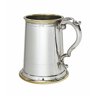 Wortley Pewter și alama 1 halbă Tankard