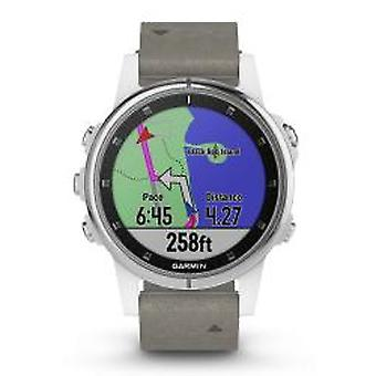 Garmin Fenix 5 s Plus Saphir Weiß GPS-Multisport Smartwatch (010-01987-05)