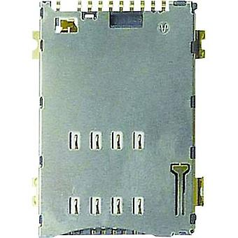 SIM Card connector No. of contacts: 8 Push, Push Yamaichi FMS008-6001-0 incl. switch 1 pc(s)