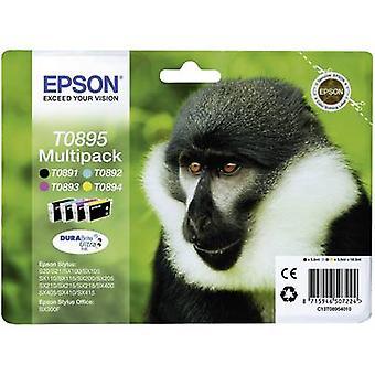 Epson encre T0895 origine défini C13T08954010 noir, Cyan, Magenta, jaune