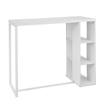 SoBuy Wood Kitchen Dining Table with Storage Rack,White,FWT39-W,UK