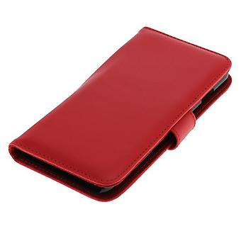 OTB (kunstleer) voor de Apple iPhone 6 plus Bookstyle Red Pocket