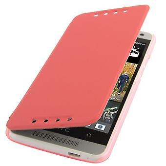Mobile HTC yksi vaaleanpunainen mini M4 Suojakotelo (flip cross)