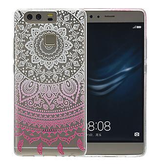 Henna Cover für Huawei P10 Plus Case Schutz Hülle Silikon Sonne Weiß