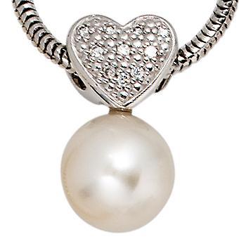 Trailer 585/w SWZP 0, colgantes de oro blanco ct 04 colgante perla diamante