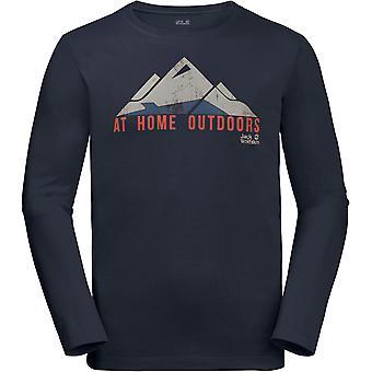 قميص طويل الأكمام تي هولمنكولن خفيفة الوزن جاك وولفسكين رجالي