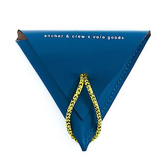Anchor & Crew Traffic Blue Dunster Leather and Rope Coin Purse