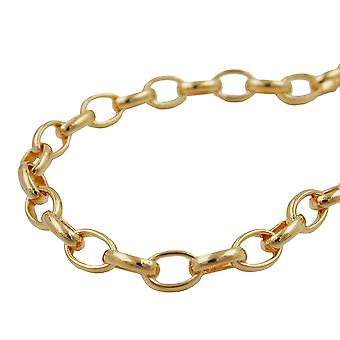 Pea chain 3, AMD 50 cm gold plated 5 mm oval links