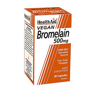 Health Aid Bromelain 500mg, 30 Vegicaps