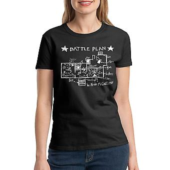 Home Alone Battle Plan By Kevin Women's Black T-shirt