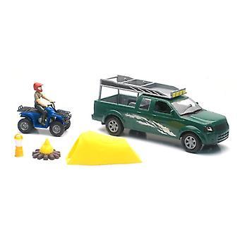 Camion Xtreme aventure et activité Playset, ATV et tente