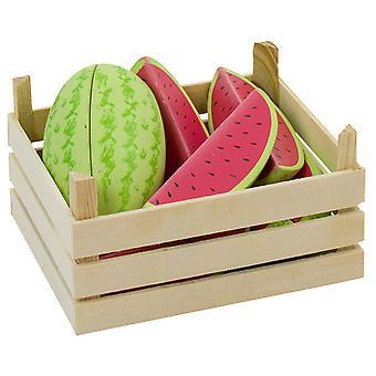 Hölzerne Melonen in Kist, 12dlg.