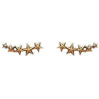 GEMSHINE oorbellen sterren. Oor klimmer 925 Silver Stud Earrings, verguld, Rose.