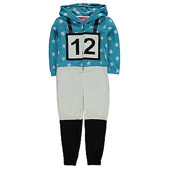 Jockey Kids meisjes Onesie kind Pyjama Set Hooded Zip elastisch manchetten