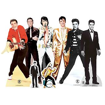 Elvis Table Top Cardboard Cutout / Standees Party Pack de 8