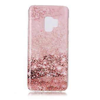 MTK Samsung Galaxy S9 SM-G960 TPU Marmor - Pink Pattern