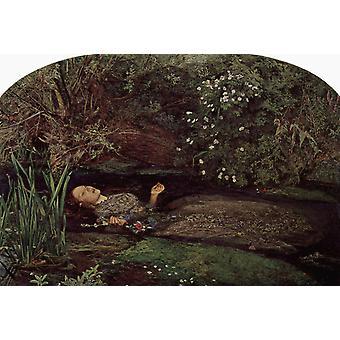 Ophelia, John Everett Millais, 60x40cm