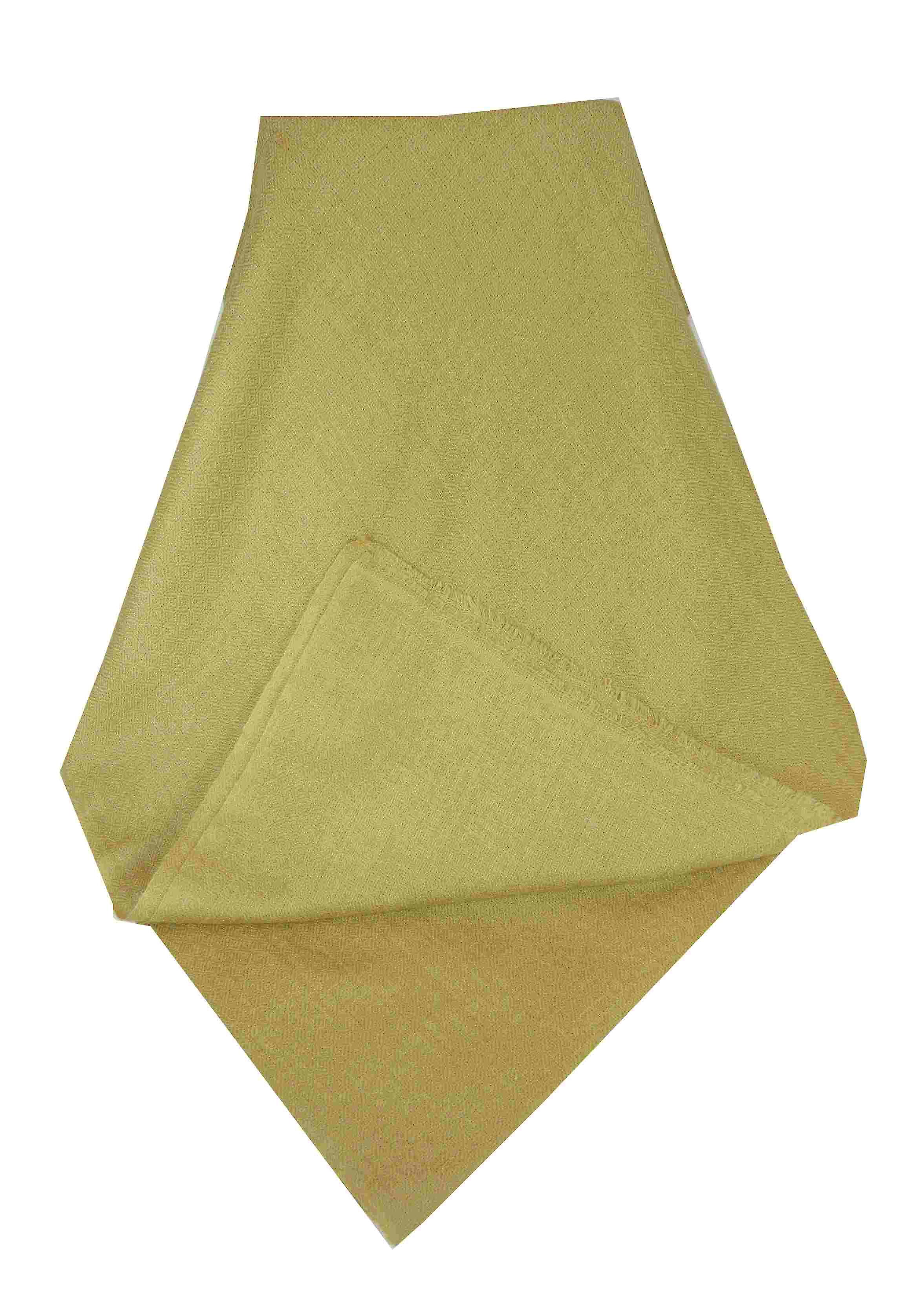 MENS Fine Cashmere Scarf Old Gold by Pashmina & Silk