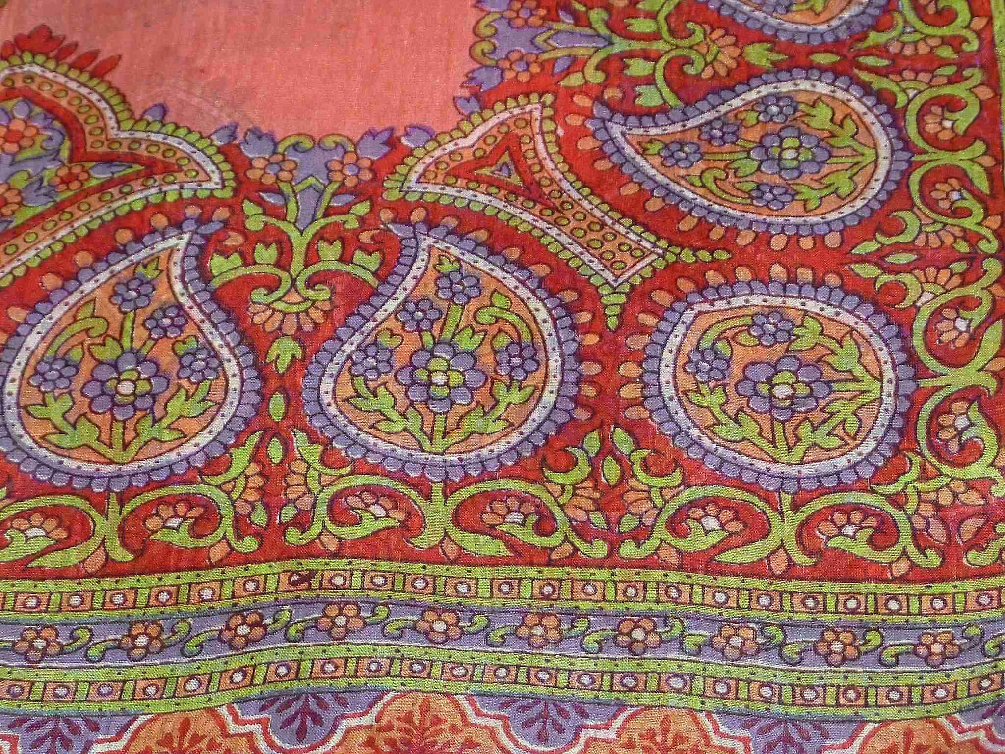 Mulberry Silk Traditional Square Scarf Vashti Rose by Pashmina & Silk