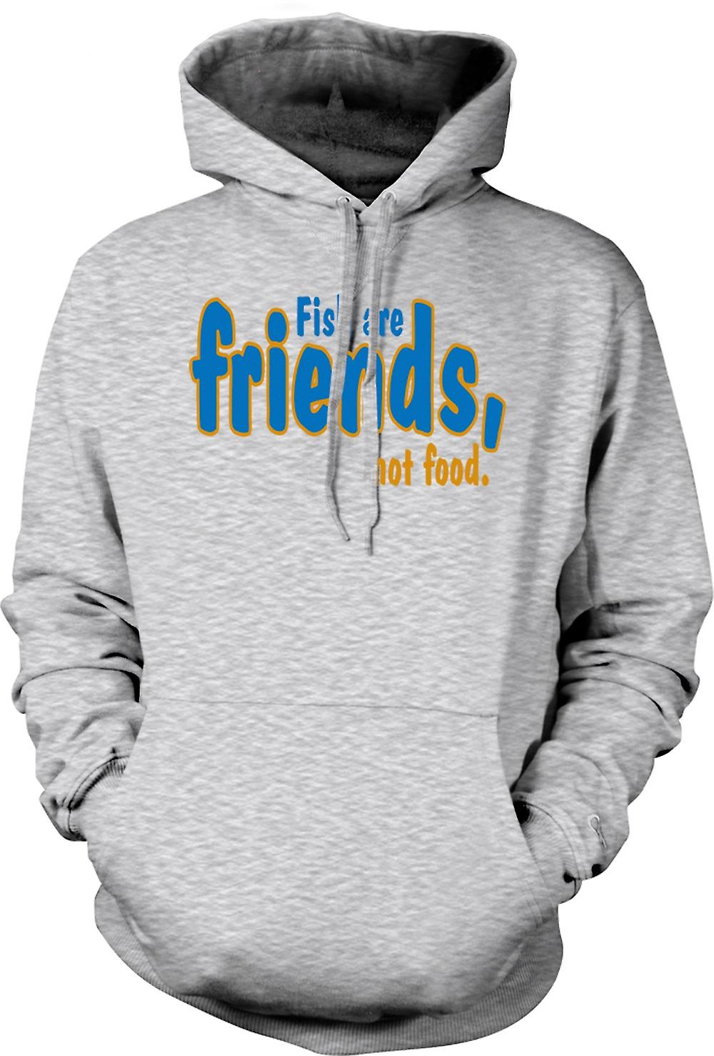 Mens Hoodie Fish Are Friends Not Food Funny Quote Fruugo