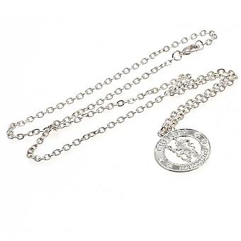 Chelsea FC Silver Plated Crest Pendant And Chain