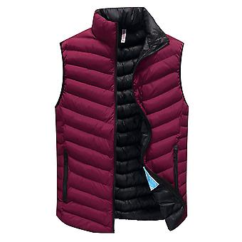 Cloudstyle Men's Padded Vest Solid Sleeveless Jacket
