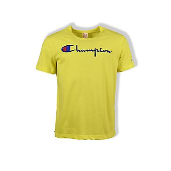 Champion Script Crew-Neck T-Shirt (Yellow)