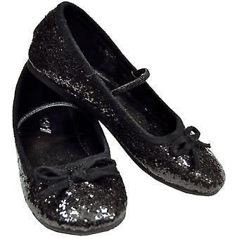 Flat Ballet Glitter Ch Bk Xsml