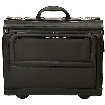 "Wheeled Pilot Case Rolling 17.3"" Laptop Roller Bag Briefcase Hand Luggage Flight Cabin"