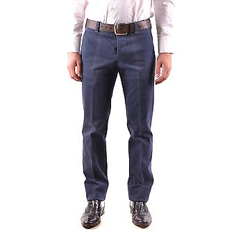Pt01 Ezbc084052 Men's Blue Cotton Pants