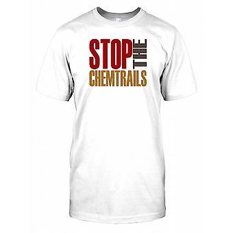 Stop Chemtrails - spisek męskie T Shirt