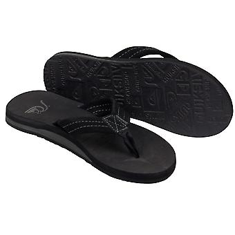 Quiksilver Mens Carver Suede Beach Casual Sandals - Black/Gray